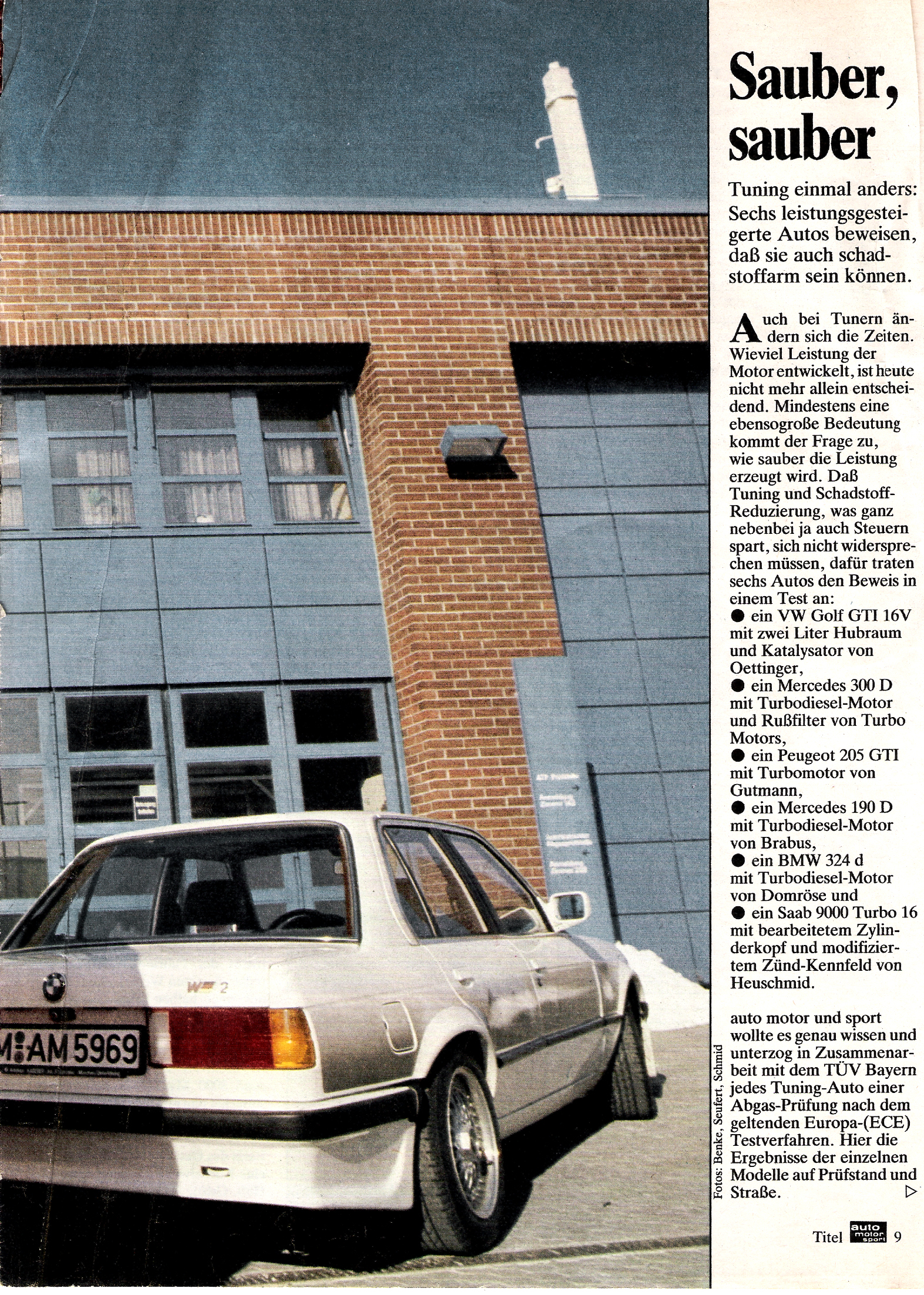 """Auto-Motor-und-Sport, Juni 1986 """"Sauber, sauber!"""" über Domröse Diesel 2"""