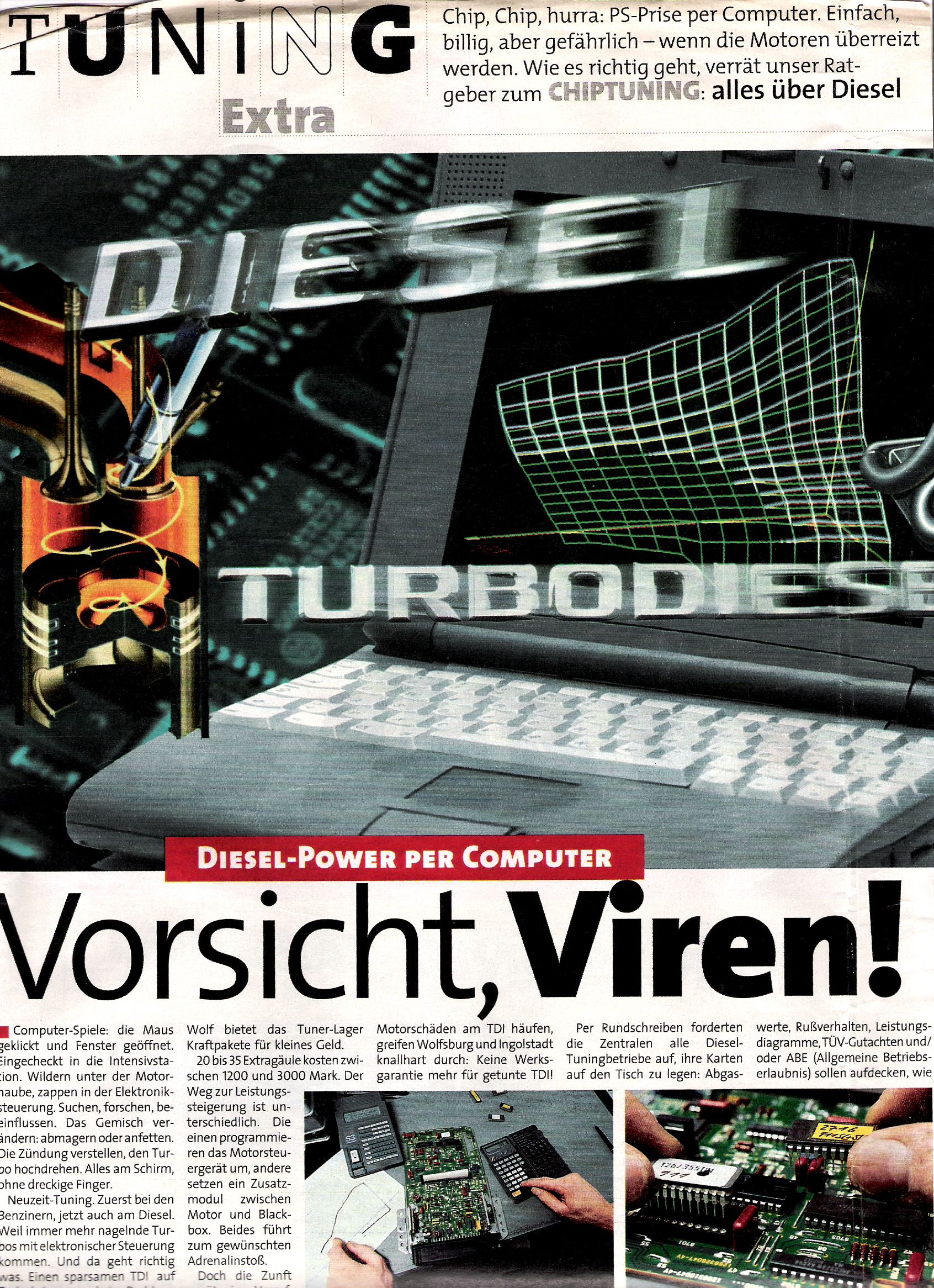 """Auto-Bild, 1997 """"Vorsicht, Viren!"""" 1"""
